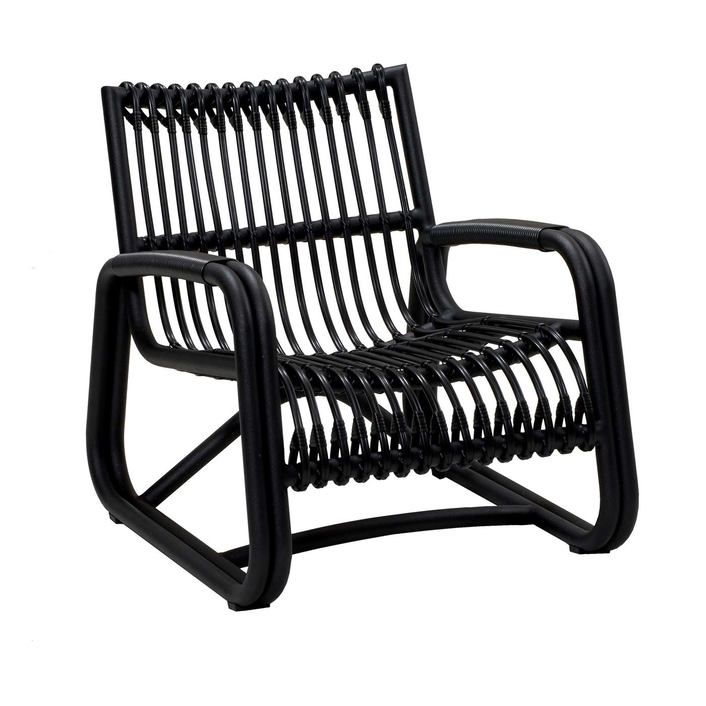 Cane-Line Curve Garden Lounge Chair in Lava Grey
