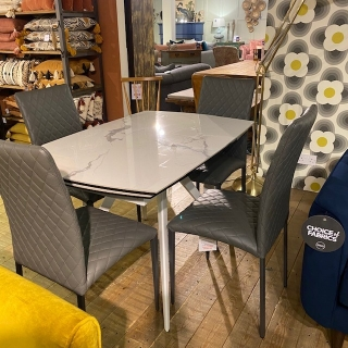 Livorno Table And 4 Roma Chairs