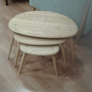 Ercol Nest Of Tables - Straw Finish