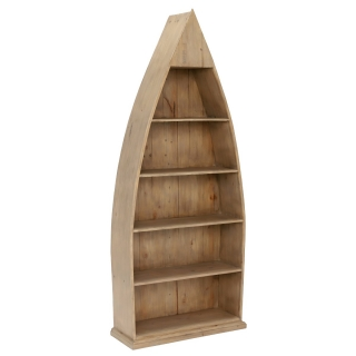 Verberie Reclaimed Wood Boat Bookcase