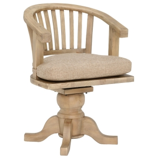 Verberie Reclaimed Wood Rotating Office Chair