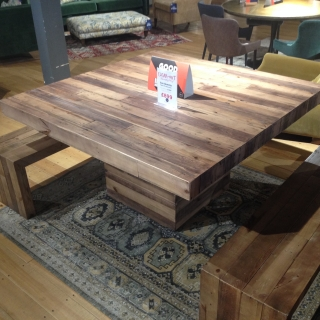 San Quentin Table & Two Benches