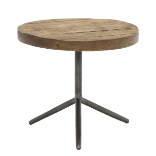 Keeler Benny Reclaimed Large Side Table, Rusic Grey