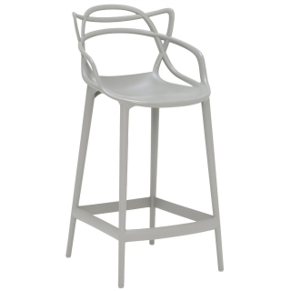 Kartell Masters Counter Stool, Grey