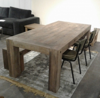Salem Table And Bench With 2 Twyford Chairs