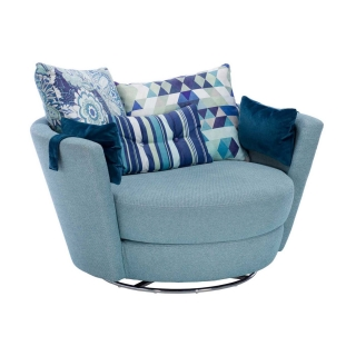 Aragon Swivel Armchair, with speakers and Bluetooth