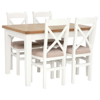 Althorp Extending Dining Table and 4 Cross Back Dining Chairs