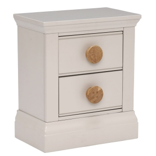 Buttons 2 Drawer Sidetable, Stone