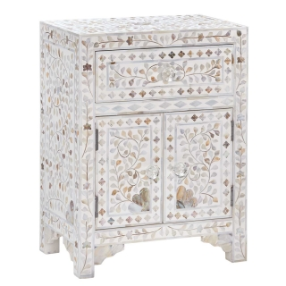Clipper Side Table, Mother Of Pearl