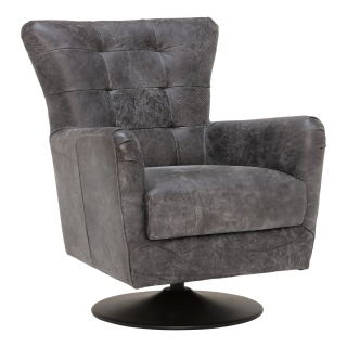 New Grigri Leather Swivel Chair