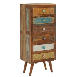 Little Tree Furniture Shimla Eclectic 6 Drawer Multi Chest