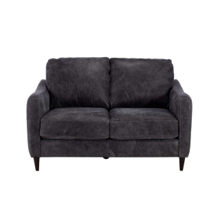 New Vincenzo Leather Loveseat