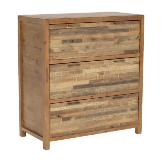 Charlie Reclaimed Wood 3 Drawer Chest