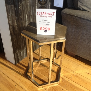 Zion Hex Accent Table