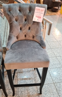 Delaville Grey Bar Stool - 2  Available