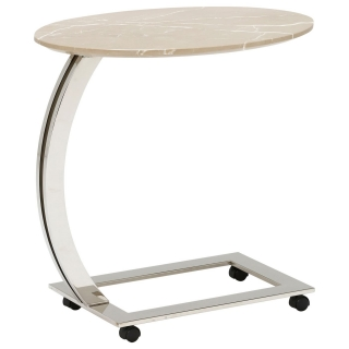 Zion Oval Marble Accent Table, Amani Light
