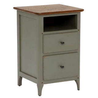 Maison 2 Drawer Bedside, Albany and Moss Grey