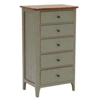 Maison 5 Drawer Chest, Albany and Moss Grey