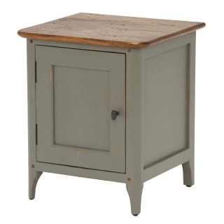 Maison Right Hand 1 Door Bedside, Albany and Moss Grey