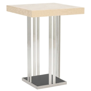 Elba Square Bar Table, Marble