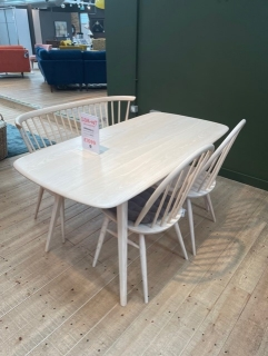 Plank Table +Chairs & Loveseat