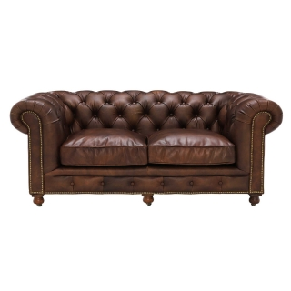 Asquith Leather 2.5 Seater Chesterfield Sofa
