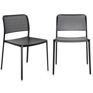 Pair of Kartell Audrey Dining Chairs, Black