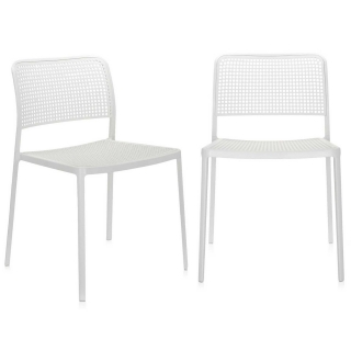 Pair of Kartell Audrey Dining Chairs, White