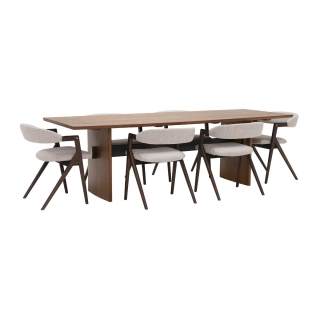 Batan Dining Table And 6 Zora Chairs