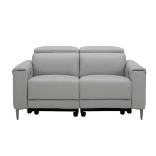 Bayswater 2 Seater Electric Recliner With Electric Headrest, Orlando Quiet Grey O7304