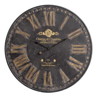 Antique Bourgeois Roman Numeral Wall Clock, Black