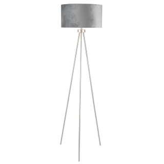 Tripod Floor Lamp, Brushed Silver