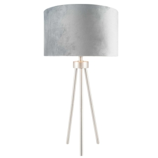 Tripod Table Lamp, Brushed Silver