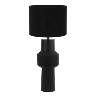 Black Sculpted Table Lamp