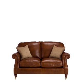 Parker Knoll Meredith Leather 2 Seater Sofa, London Saddle