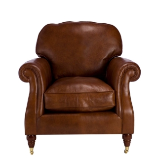 Parker Knoll Meredith Leather Chair, London Saddle