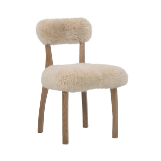 Timothy Oulton Cabin Dining Chair, Yeti Beige