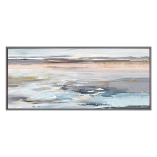 Coastal Landscape Picture, Pink and Grey