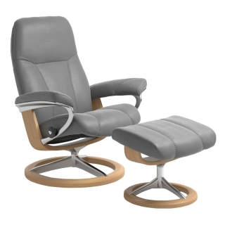 Consul Large Signature Chair and Stool, Quickship