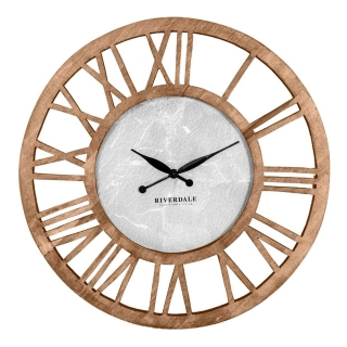 Wooden Cut Out Roman Numeral Wall Clock