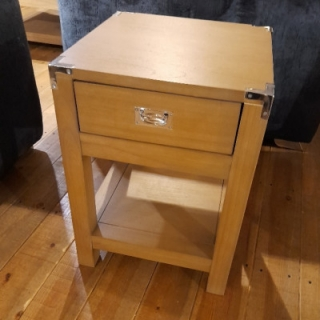 Military Lamp Table With Drawers