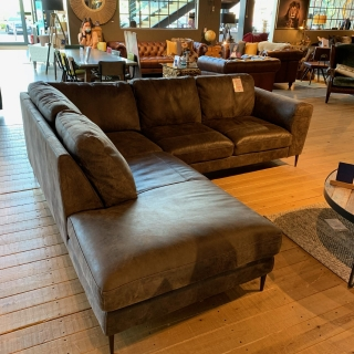 Troy Leather Chaise Sofa