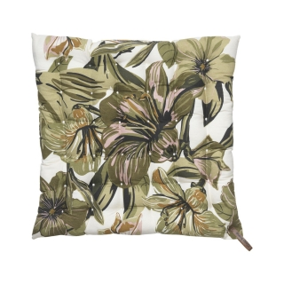 Floral Green Cotton Seat Pad