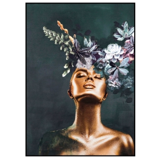 Floral Couture Framed Print