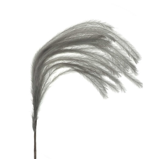 Faux Feather Plume, Grey