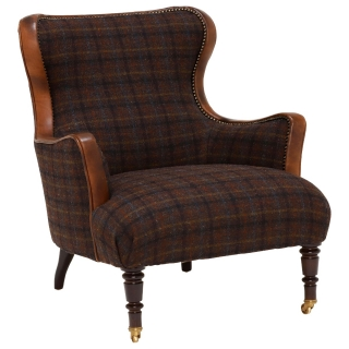 Harris Tweed Nairn Occasional Chair, Darnoch Check
