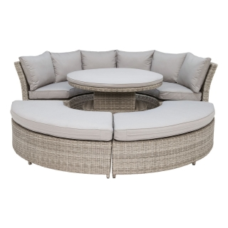 Hathaway Lifestyle Garden Suite in Light Grey Weave and Grey Fabric
