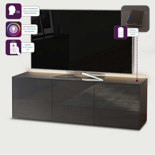 Express Delivery Intelligent Concept 150cm High Gloss 3 Door TV Unit, Choice Of Colour