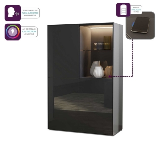 Express Delivery Intelligent Concept LED High Gloss Display Cabinet