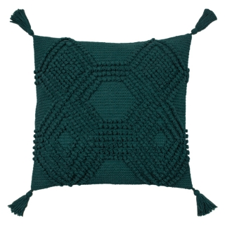 Knotted Teal Cushion